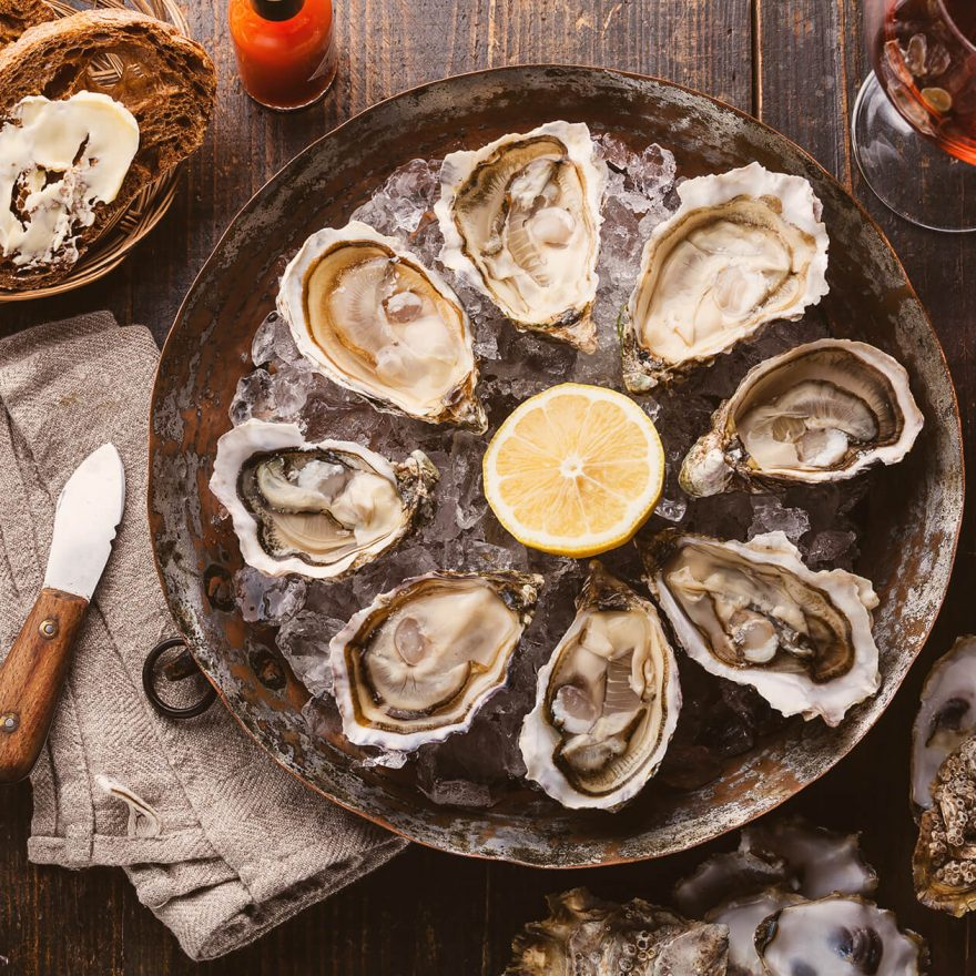 Island Creek Oysters With Lemon